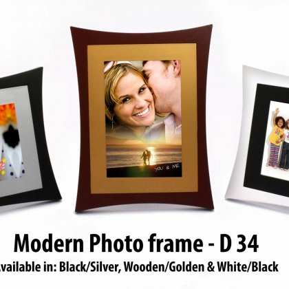 Personalized modern photo frame
