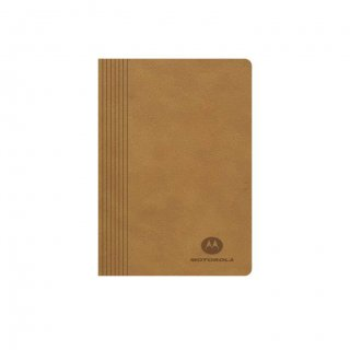 Personalized Motorola A5 Notebook (Tan Color)