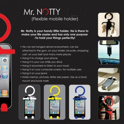 Personalized Mr. Notty: Flexible Mobile Holder (Multipurpose)