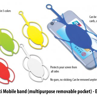 Personalized multi mobile band (multipurpose removable pocket)