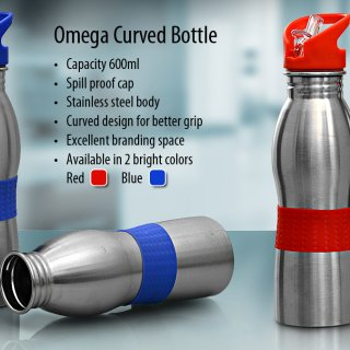 Personalized Omega Curved Bottle (600 Ml)