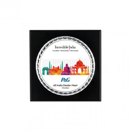 "Personalized P&G Printing Size Memento (4"" Dia)"