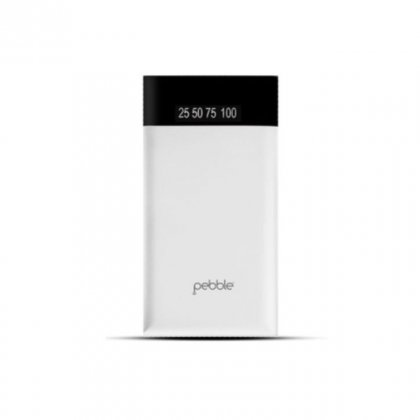 Personalized Pebble 15000 Mah Power Bank (Slim Polymer Battery) (Pb55 White)
