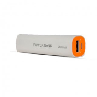 Personalized Pebble 2600Mah Power Bank (Ppc26Auc White)