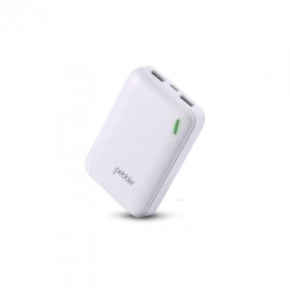 Personalized Pebble 4400Mah Power Bank (Ppc44Buc(N)White)