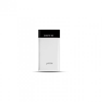 Personalized Pebble 6000 Mah Power Bank (Slim Polymer Battery) (Pb33 White)