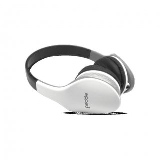 Personalized Pebble Aux Headphone (Wave White)