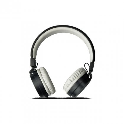 Personalized Pebble Aux Headphone With Mic (Echo Black)
