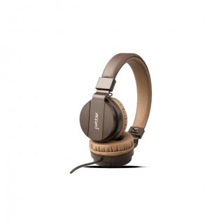 Personalized Pebble Aux Headphone With Mic (Echo Mocha)