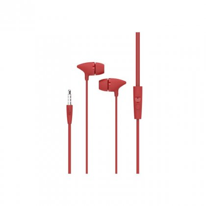 Personalized Pebble Handsfree Earphone (Spirit Bolt Red)