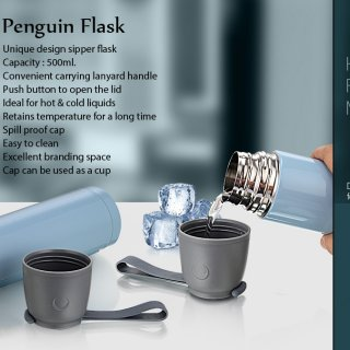 Personalized Penguin Flask (500 Ml)