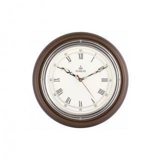"Personalized 12"" Dia (Chrome) Antique Clock"