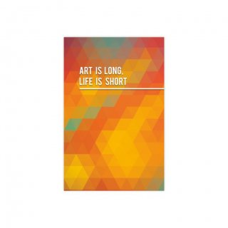 Personalized Art Is Long Life Is Short Thematic Softcover Notebook