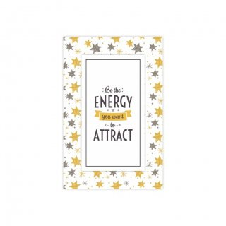 Personalized Be The Energy Attract Thematic Softcover Notebook
