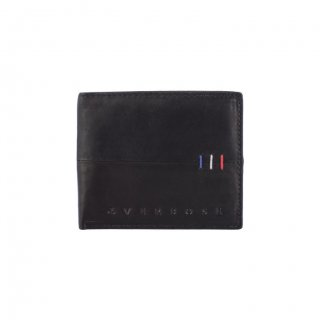 Personalized Classic Black Leather Wallet
