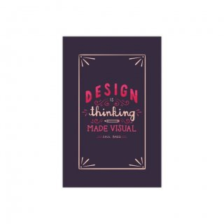 Personalized Design Is Thinking Thematic Softcover Notebook