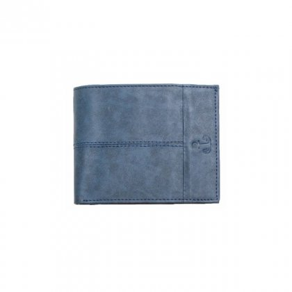 Personalized Earth Blue Premium Leatherette Wallet