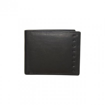 Personalized Flagship Black Leather Wallet