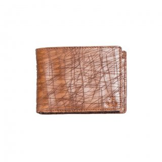 Personalized Textured Brown Premium Leatherette Wallet