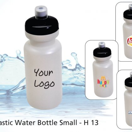 Personalized plastic water bottle small