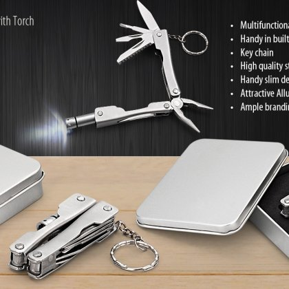 Personalized Plier Tool Kit With Torch