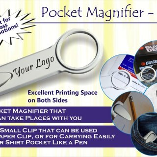 Personalized pocket magnifier