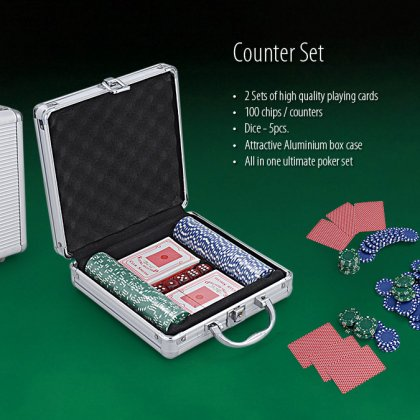 Personalized Poker Set Of 100 Chips