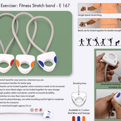 Personalized portable exerciser: stretch band