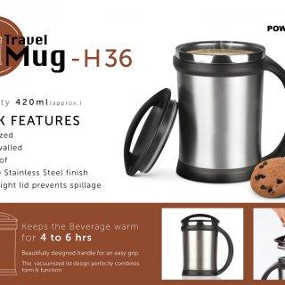 Personalized power plus vacuumized travel mug