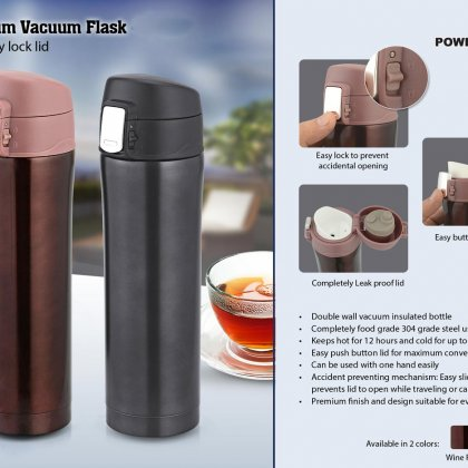 Personalized Premium Vacuum Flask With Easy Lock Lid (500Ml Approx)