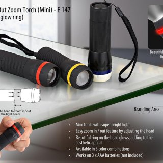 Personalized pull out focus torch (mini) (1 watt led)