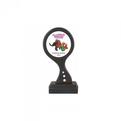 """Personalized Rajasthan Tourism Printing Size Trophy (3"""" Dia)"""