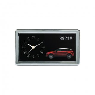 """Personalized Range Rover Chrome Plated Table Clock (3.5""""X7"""")"""