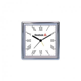 """Personalized Reebok Chrome Plated Table Clock (4""""X4"""")"""