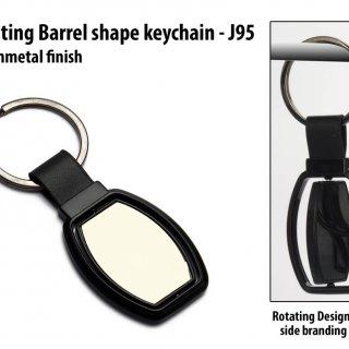 Personalized rotating barrel shape keychain