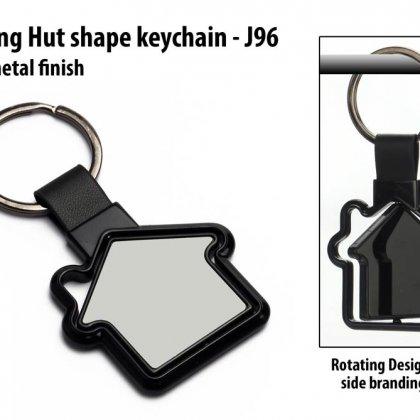 Personalized rotating hut shape keychain