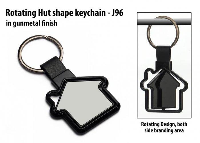 Personalized Rotating Hut Shape Keychain In Delhi, Gurgaon