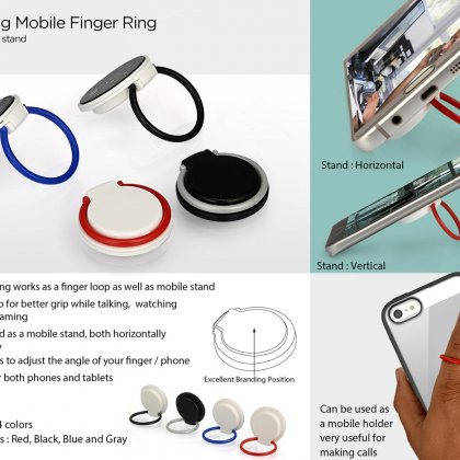 Personalized Rotating Mobile Finger Ring (With Mobile Stand)