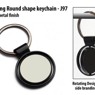 Personalized rotating round shape keychain