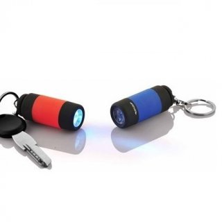 Personalized Rubberised Torch Key Chain