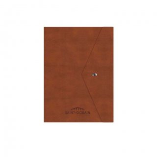 Personalized Saint Gobain A5 Notebook (Brown Color)