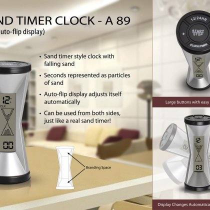 Personalized sand timer clock