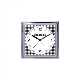 """Personalized Seagram'S Chrome Plated Table Clock (4""""X4"""")"""