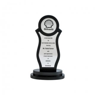"Personalized Shell Engraving Area Trophy (1.5"" Dia & 4""X1.75"")"