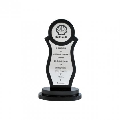 """Personalized Shell Engraving Area Trophy (1.5"""" Dia & 4""""X1.75"""")"""