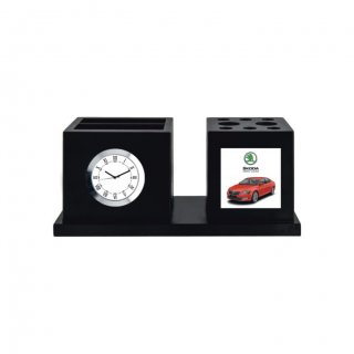 """Personalized Skoda Colour Printing Table Clock (1.75""""X1.75"""")"""