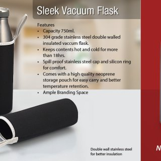 Personalized Sleek Vacuum Flask (750 Ml)