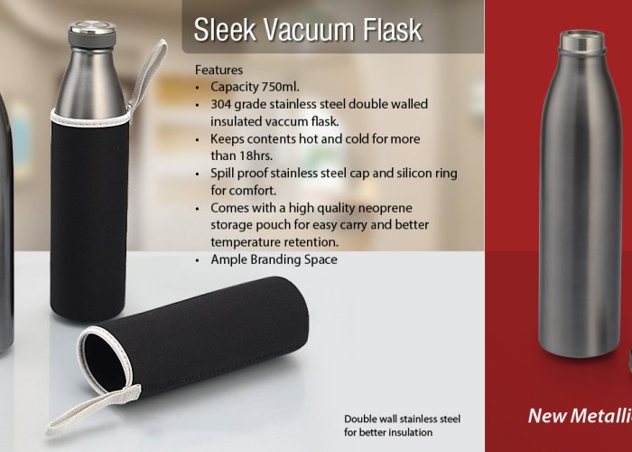 Personalized Sleek Vacuum Flask (750 Ml)