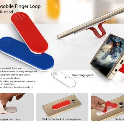 Personalized Sliding Mobile Finger Loop (With Mobile Stand)