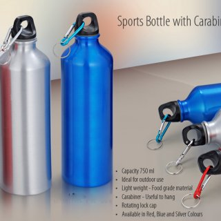 Personalized Sports Bottle With Carabiner (750Ml)